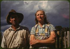 Faro and Doris Caudill, homesteaders; Pie Town, New Mexico; October, 1940. Photograph by Russell Lee.