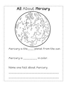 A short booklet for a space unit in early elementary grades. Students can write in fun facts, color in planets, and more in order to learn about the 8 planet of our solar system!