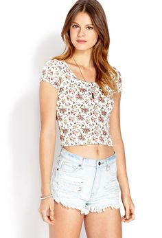 Flower Child Crop Top | FOREVER21 - 2000089606
