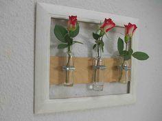 Wandvase Blumenvase Bilderrahmen mit Schellen Vase von Schlueter-Home-Design auf DaWanda.com