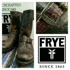 Flash SALE Frye Rugged Veronica Slouch Like NEW These are amazing little boots.  Wear these with anything...... always perfection.  Only wore once that I remember - really no signs of wear.... They are extremely distressed, rugged brown leather boots - very hard to find.  Grab these! Frye Shoes Combat & Moto Boots