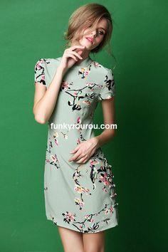 Joan Green Oriental-style Modern Cheongsam Dress – FUNKY ROUROU