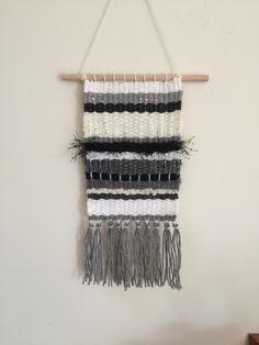 Woven yarn wall hanging textile