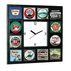 History of Sinclair Gas and Oil vintage old signs Clock