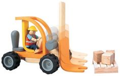 Buy New: $38.00: Toy: PlanToys PlanActivity Forklift Vehicle