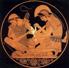 Achilles And Patroclus, Grant Wood, Gustave Courbet, Trojan War, Queer Art, American Gothic, Pre Raphaelite, Caravaggio, Chiaroscuro