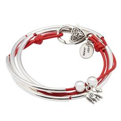 This handcrafted leather wrap charm bracelet comes with the elephant charm. The Friendship wrap bracelet line is a more youth-oriented design that is perfect fo