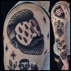 By jacatattoo Done @leloupseul . #traditionaltattooing #traditional_tattoos…
