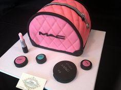 Logo,Inspired by Mac-Makeup Logo for cakes.Make-up Logo,Inspired by Mac-Makeup Logo for cakes. Fondant Cakes, Cupcake Cakes, Cupcakes, Fondant Figures, Mac Cake, My Birthday Cake, 13th Birthday, Birthday Celebration, Birthday Ideas