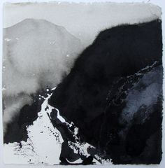 David Ross - Creagan Dubh (ink on Khadi paper)  One of my favorites!