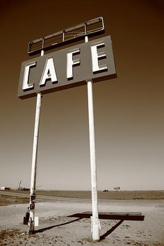 Route 66 Fine Art Photography. A lonely cafe in the Texas Panhandle, on old Rt. 66.