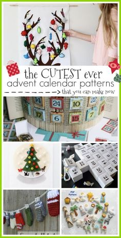 Cutest Advent Calendar Patterns - Sugar Bee Crafts