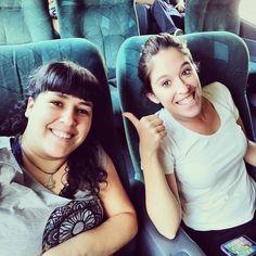 Salió viaje de chicas! Nos vamos a #MarDelPlata con Vir de @porlasrutasdelmundo y nos recibe Sam de @endondesea :) #FinDeSemanaLargo modo ON!