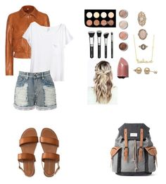 """""""School Outfit"""" by sjohnson713 on Polyvore featuring Forever 21, Helmut Lang, Aéropostale, H&M, Mr.ace Homme, LE3NO, Sydney Evan, Terre Mère and NYX"""