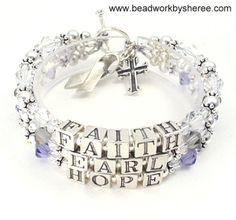 Cancer Bracelets 3 strand - $177.00