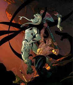 Gorr the God Butcher vs Thor by Esad Ribic