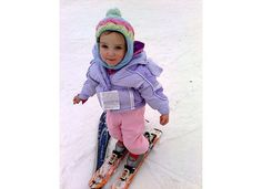 Siena's first attempt at skiing