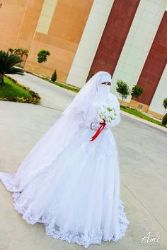 Niqab wedding gown