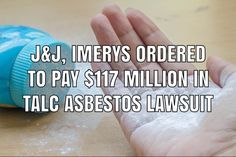 Johnson & Johnson and Imerys Talc America have been ordered to pay $117 million in damages in a lawsuit filed by a New Jersey man who was diagnosed with mesothelioma cancer caused by exposure to asbestos in talcum powder products. Product Liability, Johnson And Johnson, In Law Suite, Cancer, Powder, America, Products, Face Powder, Usa