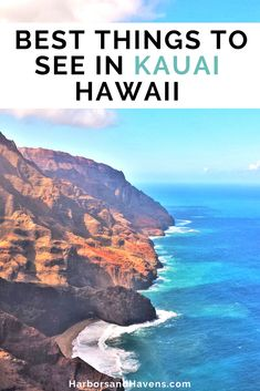 This Kauai Hawaii itinerary features the best things to do in Kauai. Fly over sea cliffs, hike to the bottom of a canyon, visit stunning Kauai Hawaii beaches, and more on this Kauai Hawaii vacation. #KauaiVacation #KauaiHawaiiTravel | Kauai Hawaii vacation guide | Kauai Hawaii travel tips | what to do in Kauai Hawaii | Kauai Hawaii travel tips | Kauai Hawaii pictures | Kauai Hawaii helicopter | Kauai Hawaii coast | Kauai Hawaii boat tour | things to see in Kauai Hawaii Honeymoon Spots, Hawaii Honeymoon, Kauai Hawaii, Hawaii Vacation, Beach Trip, Hawaii Travel Guide, Usa Travel Guide, Travel Usa, Travel Guides