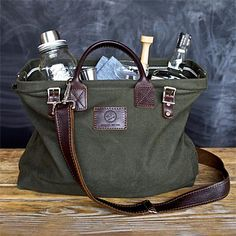 Mason Jar Cocktail Kit & Bag ---- I think this is awesome for some reason! and I love mason jars!