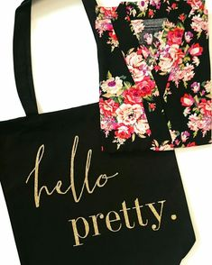 Hello Pretty Bridesmaid Tote Bag and Robe  bridesmaids  bridalparty   bridetobe Best Bridesmaid Gifts 18a949cff8898