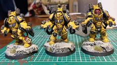 WiP Imperial Fists Aggressors : Warhammer40k Warhammer 40k Figures, Warhammer Art, Warhammer Models, Warhammer 40k Miniatures, Warhammer 40000, Imperial Fist, Game Workshop, Mini Paintings, The Grim