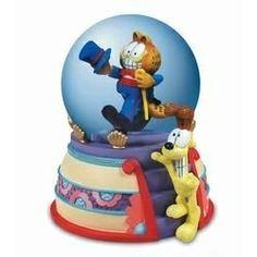 Garfield Puttin On The Ritz Snow Globe Dome By Westland