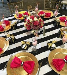 #sweet #sixteen #birthday #party #decor #black and #white #stripes #pink #gold #centerpieces #roundtable #indoor #event #eventplanner all #events centerpieces #gold #birthday #stripes #black #sweet #roundtable #event #sixteen #eventplanner #events #pink #decor #indoor #white #party#eventprofs #meetingprofs #eventplanner #eventtech