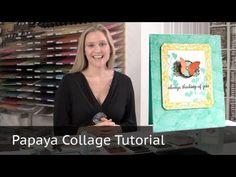 Always Thinking of You - Stampin Up Papaya Collage Stamp Set - YouTube