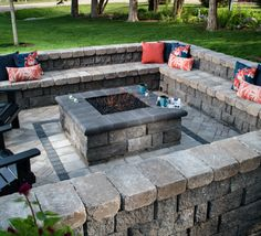 patio with square fire pit. Make The Great Outdoors A Little More Cozy With Belgard Hardscapes. Visit Our Site To See Variety Of Hardscape Ideas Transform Your Patio, Patio Square Fire Pit