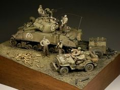 A day at the front, Sherman 105, Germany, March 1945  sculpted & paintedbyRadek Pituch