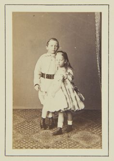 Prince William and Princess Charlotte of Prussia, 1864 [in Portraits of Royal Children Vol.8 1864-1865] | Royal Collection Trust