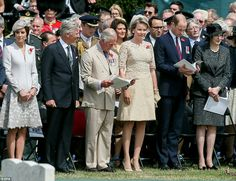Catherine Duchess of Cambridge, King Phillippe of Belgium, Prince Charles, Queen Mathilde of Belgium, William Duke of Cambridge at the ceremony to mark the Centenary of the Battle of Passchendaele. July 31 2017