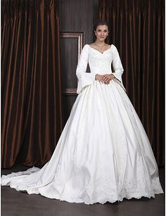 ORLA - Vestido de Novia de Satén - USD $ 249.99
