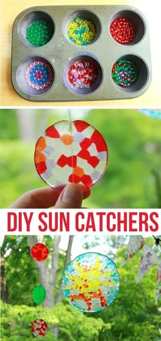 Melted Bead Sun Catchers (Easy & Fun Projects For Kids To Make At Home!)