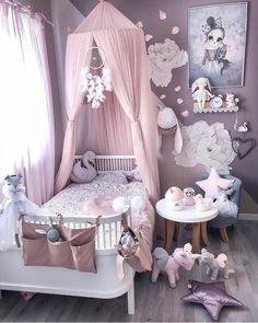 Little girls room - Girl's Clothes - Kinderzimmer Baby Bedroom, Baby Room Decor, Nursery Room, Room Decor Bedroom, Bedroom Ideas, Canopy Bedroom, Comfy Bedroom, Room Baby, Playroom Decor