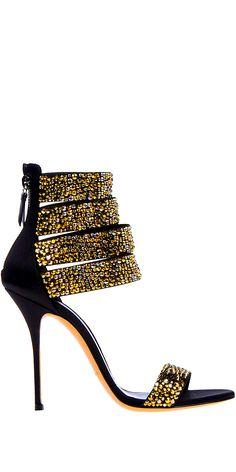 Casadei black And gold sandals heels