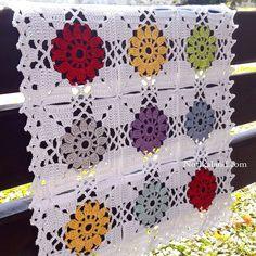 Notikaland - Crochet pattern for blanket,doily,tablecloth # crochet motif square diagram Crochet pattern for blanket,doily,tablecloth Crochet Tablecloth Pattern, Crochet Bedspread Pattern, Crochet Motif Patterns, Crochet Designs, Blanket Crochet, Point Granny Au Crochet, Granny Square Crochet Pattern, Crochet Diagram, Crochet Squares