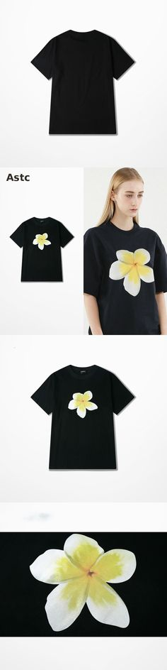 Ulzzang Japanese Tide Brand Short Sleeved T-shirt Man Flower Print Harajuku Fashion Funny T-shirt Men Cotton Top Tee