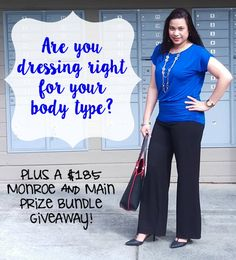 Do you know how to ‪#‎DressYourBodyType‬? Let @monroeandmain help! Here's a $185 giveaway! ‪#‎ad‬