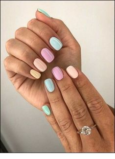 Nail - 47 Most Eye-catching And Gorgeous Light Colour Nails Design With Different Color. - - 47 Most Eye-catching And Gorgeous Light Colour Nails Design With Different Colors For Beginner - Nail Idea Lιɠԋƚ Cσʅσυɾ Nαιʅʂ 💖 Stylish Nails, Trendy Nails, Cute Nails, Cute Short Nails, Smart Nails, Cute Simple Nails, Spring Nail Colors, Spring Nail Art, Nail Summer