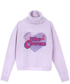 THE CHARMS TURTLENECK KNIT TOPS