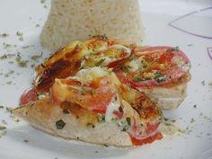 Hähnchenbrustfilet mit Tomate und Mozzarella in Kräuter - Sahne - Sauce 8