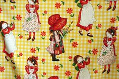 This was my Holly Hobbie bedding as a kid, it also came with a canopy cover