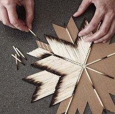 Make this with used matches! So cool!