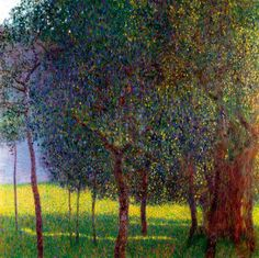 "Gustav Klimt (1862-1918) "" Fruit Trees."""