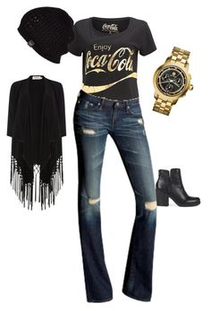 """""""Coca cola"""" by nzikop on Polyvore featuring AG Adriano Goldschmied, Tory Burch, UGG Australia, Lucky Brand and Soaked in Luxury"""