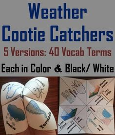 These weather cootie catchers are a great way for students to have fun while learning about the weather.