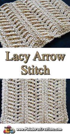 Lacy Arrow Crochet Stitch – Free Crochet Pattern and Tutorial, – Tunisian Crochet İdeas. Crochet Stitches Free, Crochet Motifs, Crochet Afghans, Tunisian Crochet, Crochet Blanket Patterns, Knitting Stitches, Free Crochet, Stitch Patterns, Knitting Patterns